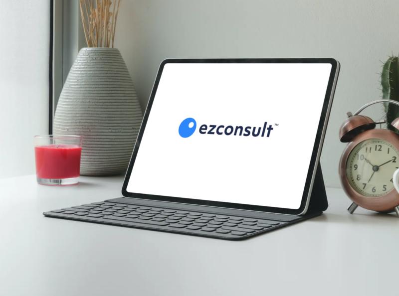 ezconsult minimal sass mobileapp webapp patient doctor consult product telehealth branding logo telemedicine