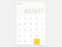 Calculator app in Dieter Rams's style