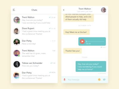 Simple chat app clean dailyui ui app messaging messenger chat