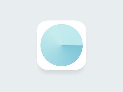 """Kitchen timer app icon """"15 min"""" countdown timer dailyui ios icon app"""