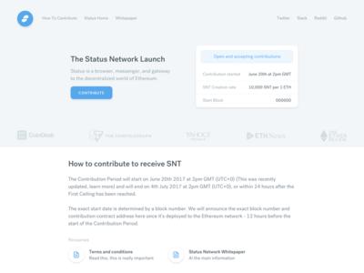Status contribution page