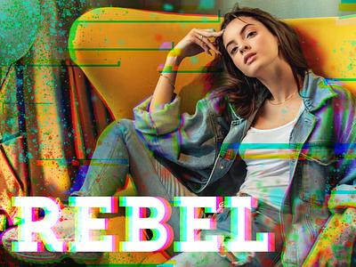 20190901 GliTcH! Rebel blur colour channel layer channel distort effect glitch effect adobe photoshop cc design