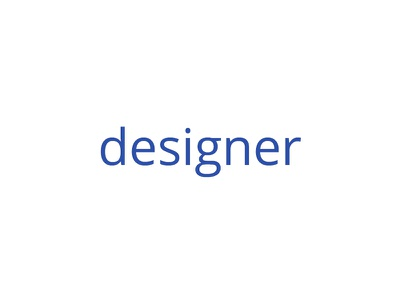 Designer, I am. design designer