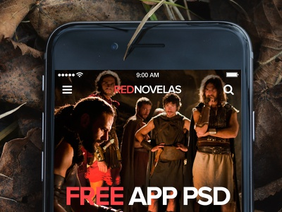 Red Novelas - Free App PSDs app mobile hulu netflix tv freebie free psd design