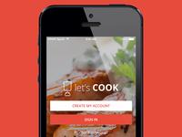 Let's Cook - Recipe App Design Concept - Free PSDs