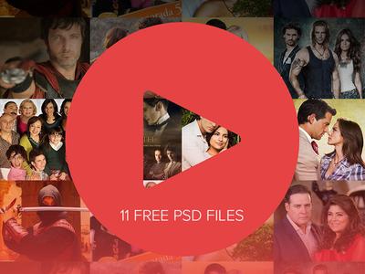 RedNovelas - Streaming App Design Concept - 11 Free PSDs ui freebie free photoshop streaming video concept app design ios mobile