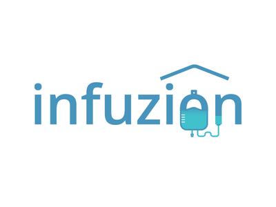 Infuzion Logo startup medical health healthcare branding design logo