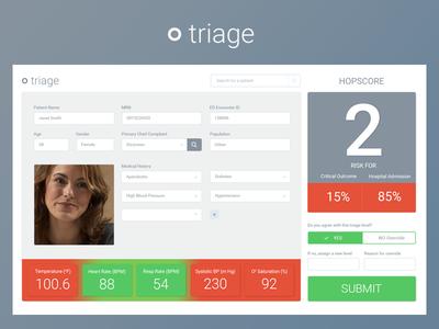Triage Interface design ui healthcare hospital medical triage