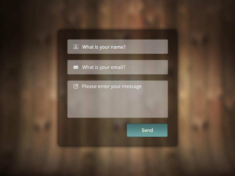 Contact Form - with free PSD and HTML/CSS code ui form psd freebie contact transparent css code codepen