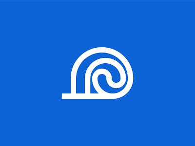 Snail logo concept business logo design graphic design illustration minimal clean design branding logo