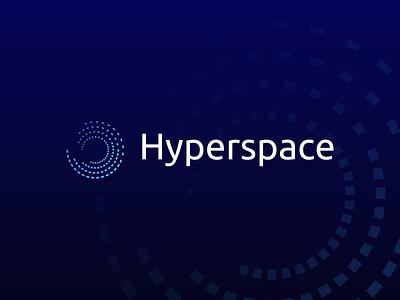 Hyperspace Logo company logo crypto logo techlogo clean logo design graphic design logo branding
