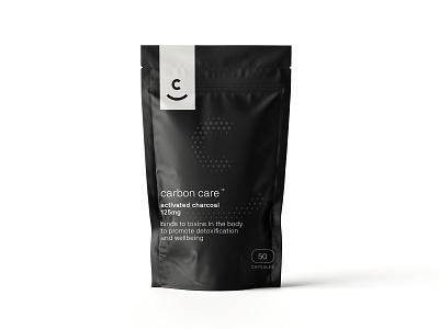 Carbon Care Packaging dark logo design logo brand identity branding design identity design packaging design packaging