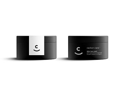 Carbon Care Packaging branding logo identity minimalist logo brand identity skincare packaging identity design design