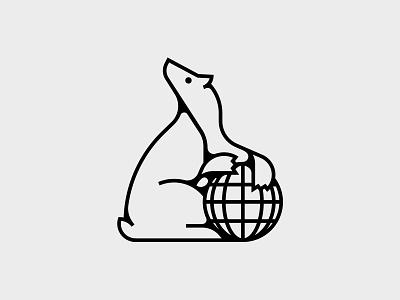 Bear Logo bear logo vector globe animal bear logo illustration identity logo design branding identity design design