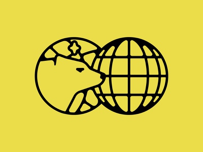 Bear & Globe brand identity polar bear animal bear illustration identity logo logo design branding identity design design