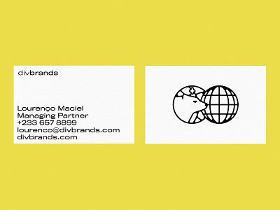 Business Cards brand identity monoline logo monoline thick lines globe animal bear identity branding logo design identity design design