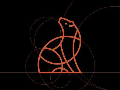Divbrands® Bear Construction logo design minimalist logo bear illustration bear brand identity branding identity design