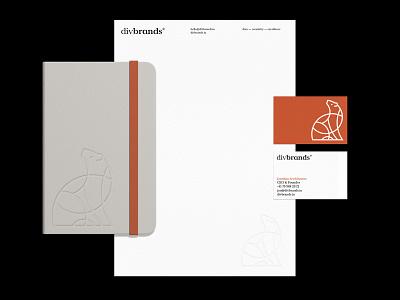 Divbrands® Stationery stationery brand identity business card business card design branding identity design