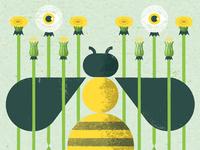 Andrew Bird bees poster