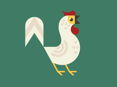 Chicken vector bird livestock farmer farm chicken animal illustration