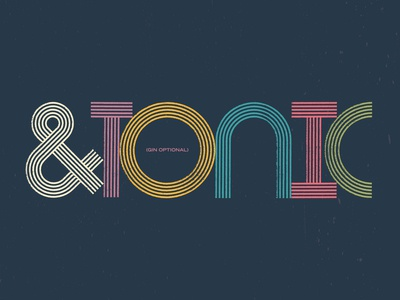 &TONIC wordmark package design packaging tonic alcohol packaging spirits alcohol logotype wordmark typography type