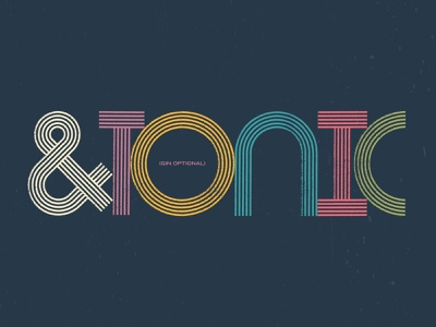 &TONIC wordmark package design packaging tonic alcohol packaging spirits alcohol logotype wordmark typography type