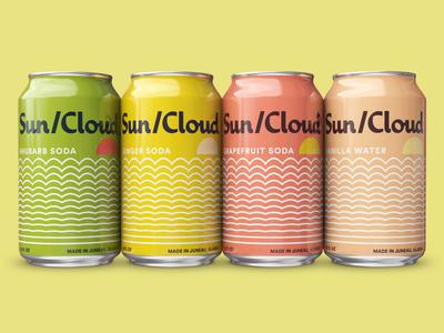 Sun/Cloud soda packaging beverage design beverage food design branding drink soda package design packaging