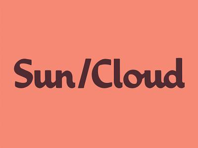 Sun/Cloud logotype font ligature midcentury logotypes branding logotype wordmark typography type