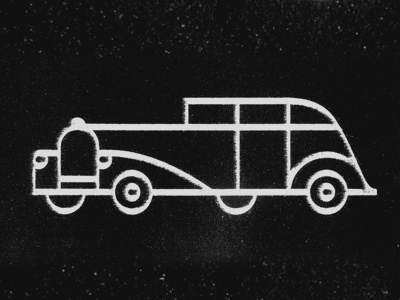 Classic Car illustration texture distress line drawing icon car vehicle gatsby