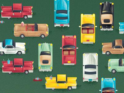 1950s Hot Rods videogames videogame vintage 1950s hotrods hotrod vehicle car texture illustration