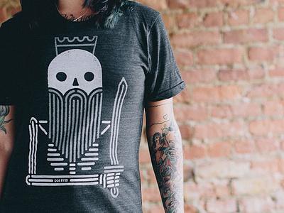 Dead King shirt design tshirt shirt apparel illustration texture king minimal skeleton sword