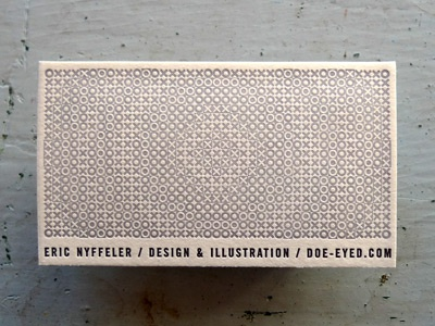 Doe Eyed Business Card  business card op art texture pattern stationery self promo
