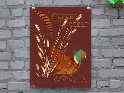 Conor Oberst concert poster
