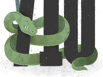 Scam Snake scales caution fear fraud scam numbers python snake distress texture editorial illustration