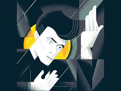"""David Bowie """"Heroes"""" figure texture gigposter poster modern minimal rockstar musican bowie davie bowie"""