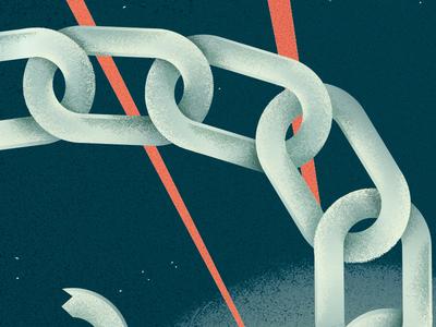 Chains addiction healthcare medicine chain magazine editorial texture illustration