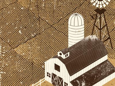 Barn Detail 02 illustration barn building architecture distress texture farm windmill silo deliverance