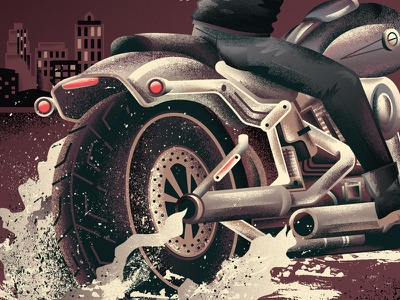 Motorcycle moto wheel tire city transportation leather harley vehicle cycle motorcycle texture illustration