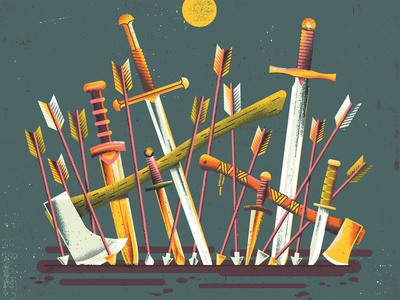 10x18 The Body 10x18 fight weapon weapons arrow defeat battle war fantasy dagger axe sword album cover texture illustration