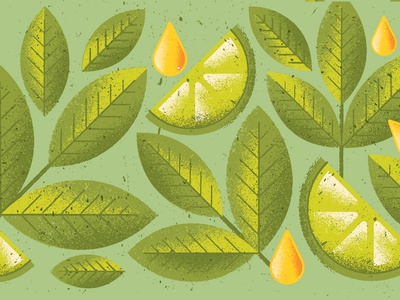 Matcha leaves nature liquor alcohol food honey lime tea matcha pattern packaging package texture illustration