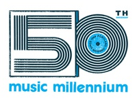 Music Millenium 50th Anniversary Logo