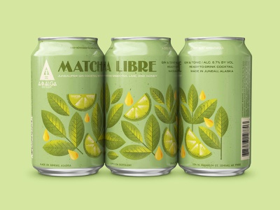 Matcha Libre Canned Cocktail beverage nature food honey fruit lime tea matcha alcohol can packagedesign package