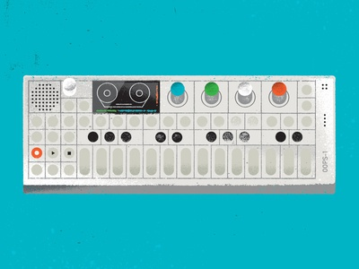Teenage Engineering OP-1 musical instrument electronics electronic op1 instrument music synthesizer synth texture illustration