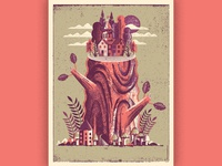 Forest Village Art Print