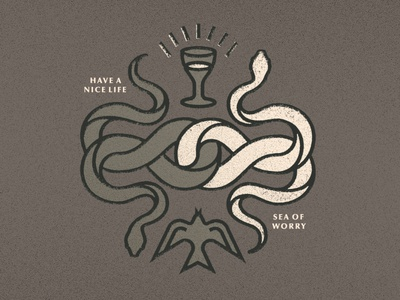 Have a Nice Life Serpents spells mystery bird dove occult animal serpent snake vinyl music album art texture illustration