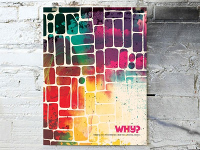 Why? poster gigposter poster texture process cmyk clouds sky stained glass watercolor