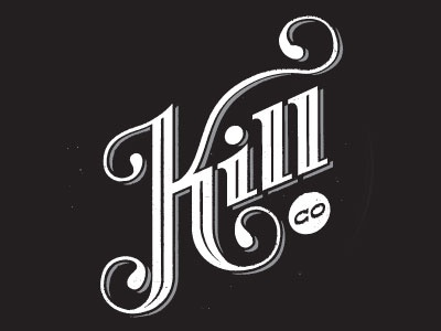 Kill County logo revision texture distress typography logo logotype monogram retro typography sign lettering
