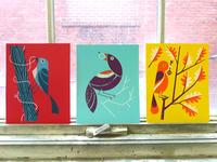 """Birds Of Play"" art prints"