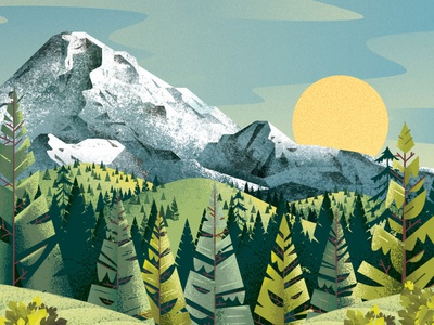 Mt Hood mountains hills pine fire trees woods forest volcano mountain oregon mt hood nature texture illustration