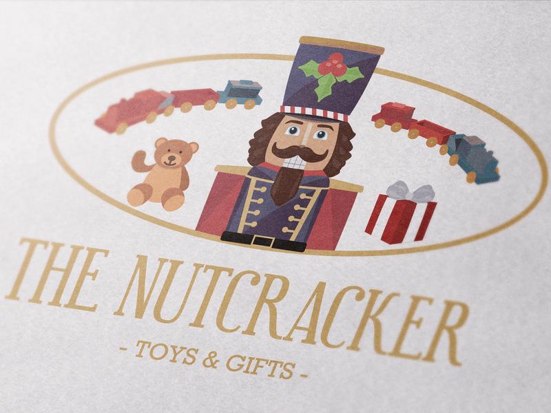 The NUTCRACKER - Toy & Gift Shop Logo Concept